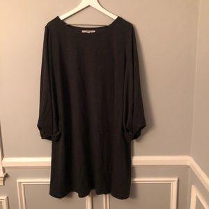 Loft Gray Soft Knit Swing Dress
